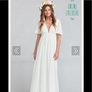 White Show Me Your MuMu wedding/boho dress